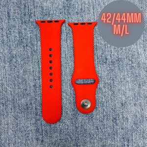 42/44mm M/L Apple Watch Band Solid Red NEW Silicone Tech Accessory